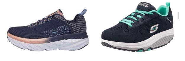 נעלים דומות של חברות SKECHERS ו- HOKA